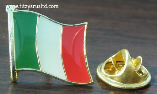 Italy Italian Country Flag Lapel / Hat / Tie / Cap Pin Badge Brooch - Brand New